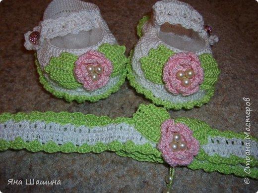 Пинетки для новорожденных фото 2