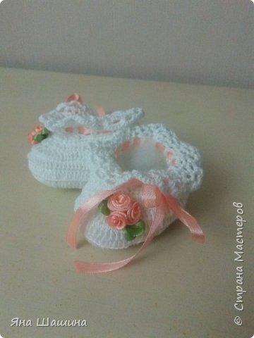 Пинетки для новорожденных фото 7