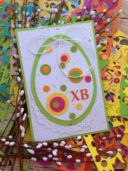 """Со 2 апреля у меня началась подготовка к Пасхе. Я провела 2 мастер-класса. Один для деток от 6, второй от 12 лет. Образец открытки карточки """"Пасхальное яйцо"""" А-ля ЭКО стиль. фото 15"""