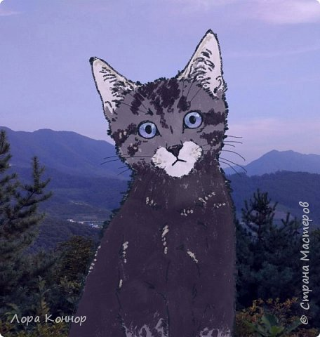 Январь Это коммишен (заказ за деньги) Если окрасы кошек вам покажутся странными, то не пугайтесь - сейчас стало популярным придумывать собственных персонажей. Они могут быть копией своего хозяина в образе какого-либо существа или частью какой-то вселенной, своей или популярного фэндома. фото 13