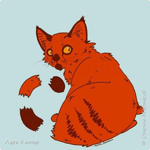 Январь Это коммишен (заказ за деньги) Если окрасы кошек вам покажутся странными, то не пугайтесь - сейчас стало популярным придумывать собственных персонажей. Они могут быть копией своего хозяина в образе какого-либо существа или частью какой-то вселенной, своей или популярного фэндома. фото 19