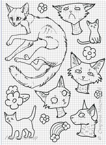 Январь Это коммишен (заказ за деньги) Если окрасы кошек вам покажутся странными, то не пугайтесь - сейчас стало популярным придумывать собственных персонажей. Они могут быть копией своего хозяина в образе какого-либо существа или частью какой-то вселенной, своей или популярного фэндома. фото 17