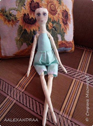 Всем привет!!! Вот моя кукляша,думала думала и надумала.... фото 4