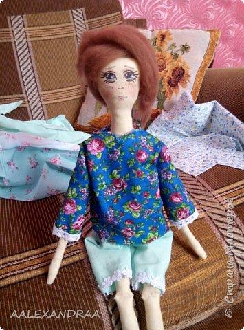 Всем привет!!! Вот моя кукляша,думала думала и надумала.... фото 3