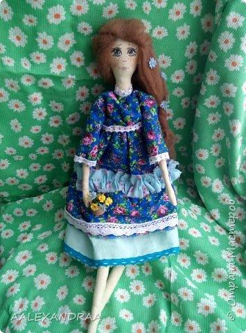 Всем привет!!! Вот моя кукляша,думала думала и надумала.... фото 1