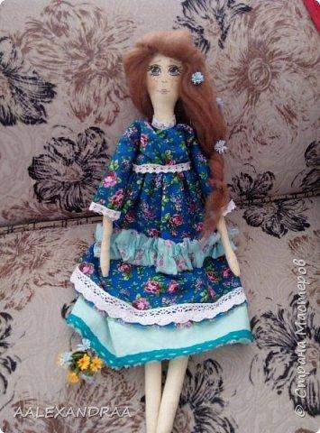 Всем привет!!! Вот моя кукляша,думала думала и надумала.... фото 2