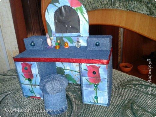 Шкаф-купе, трюмо с пуфиком и двуспальная кровать для Барби (+ небольшой МК)