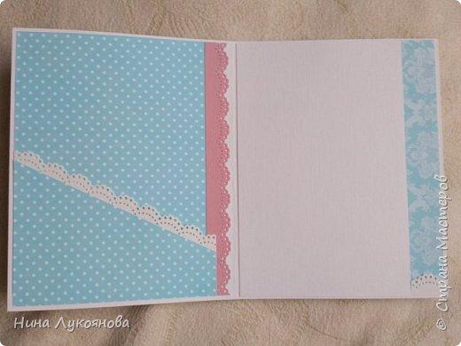 Здравствуйте, дорогие жители Страны мастеров. Хочу показать вам открытку с кружевом. В ней я впервые использовала микробиссер. Не знаю насколько это оправдано, но давно хотела попробовать с ним работать. Средняя часть открытки приподнята на пивной картон. фото 6