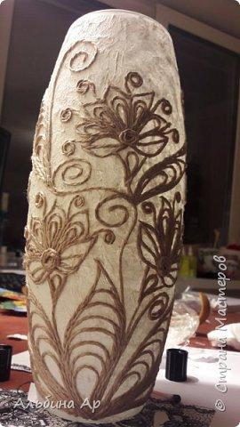 Здравствуйте, мои дорогие! Продолжается эпопея по созданию белой вазы с золотом. Попытка №2 тоже не увенчавшаяся успехом фото 2