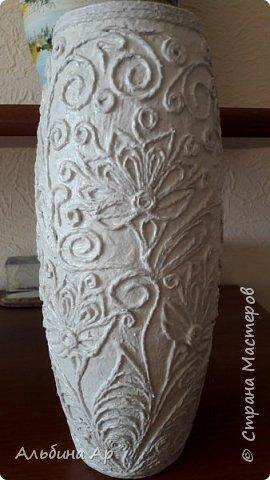 Здравствуйте, мои дорогие! Продолжается эпопея по созданию белой вазы с золотом. Попытка №2 тоже не увенчавшаяся успехом фото 3