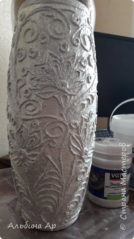 Здравствуйте, мои дорогие! Продолжается эпопея по созданию белой вазы с золотом. Попытка №2 тоже не увенчавшаяся успехом фото 4