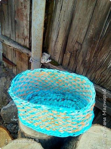 Вот такую корзинку сплела я в подарок тете)) фото 3