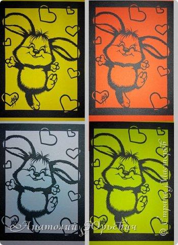"""Всем добрый день! Вашему вниманию представляю новую открытку. Рисунок для эскиза был взят из интернета, изменён (т.к. рисунок цветной), и доработан под """"вырезалку"""". Размер как обычно 12х16см. фото 8"""