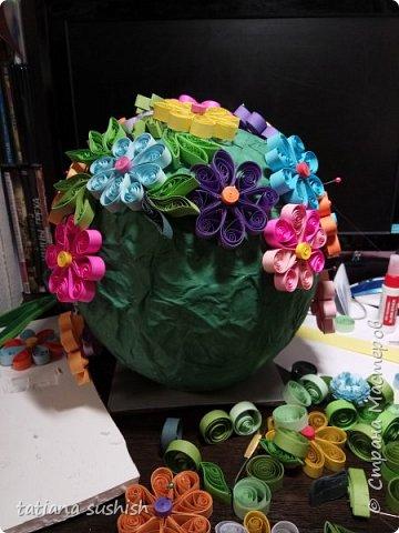 Вот  теперь наш шар (Поляна цветов ) полностью готова . фото 4