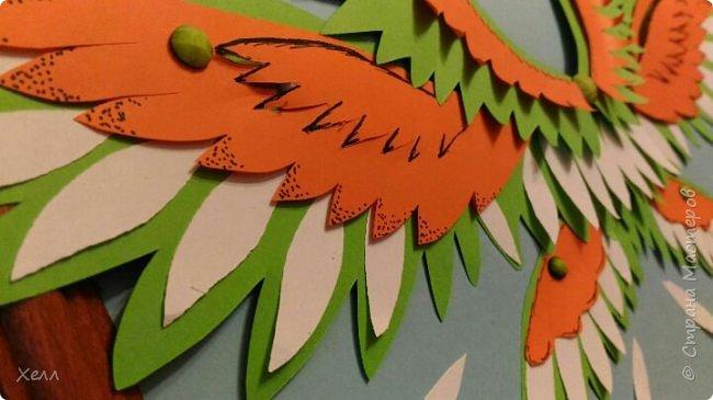 """Одна из моих любимых тем - крылья. И у меня их, кроме моей большой работы, очень много  Такие вот на А4 - """"Осенний Арх"""" Из цветной бумаги для оригами  фото 2"""