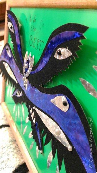 """Одна из моих любимых тем - крылья. И у меня их, кроме моей большой работы, очень много  Такие вот на А4 - """"Осенний Арх"""" Из цветной бумаги для оригами  фото 4"""