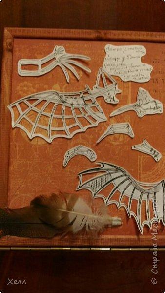 """Одна из моих любимых тем - крылья. И у меня их, кроме моей большой работы, очень много  Такие вот на А4 - """"Осенний Арх"""" Из цветной бумаги для оригами  фото 5"""