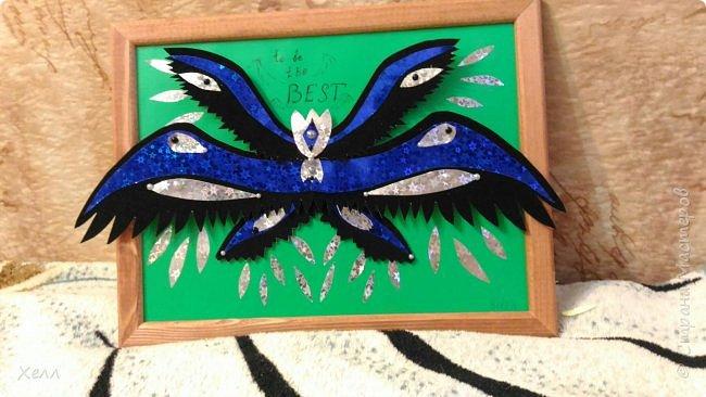 """Одна из моих любимых тем - крылья. И у меня их, кроме моей большой работы, очень много  Такие вот на А4 - """"Осенний Арх"""" Из цветной бумаги для оригами  фото 3"""