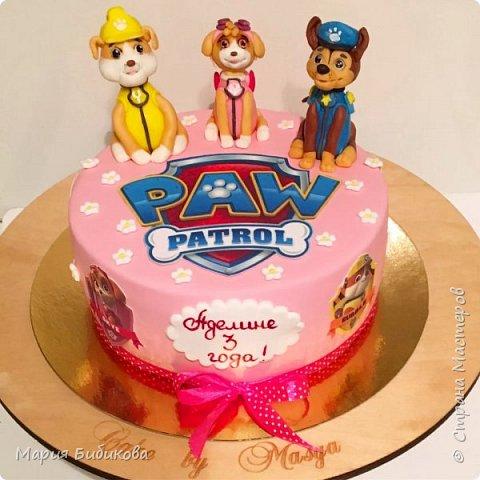 Тортик щенячий патруль фото 9