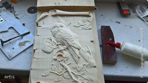 3D панно выполнено на китайском фрезерном (гравировальном) станке на куске дерева найденного на уличной свалке по программе скаченной с интернета. на авторство не претендую. Совместная работа. Спасибо автору за файл фрезеровки. фото 1