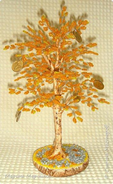 На одном дыхании и в приподнятом настроении родились вот такие деревца с монетками. фото 1