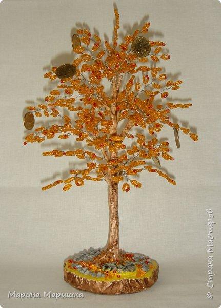 На одном дыхании и в приподнятом настроении родились вот такие деревца с монетками. фото 3