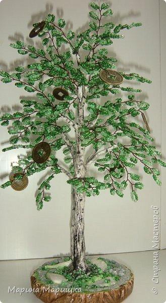На одном дыхании и в приподнятом настроении родились вот такие деревца с монетками. фото 2