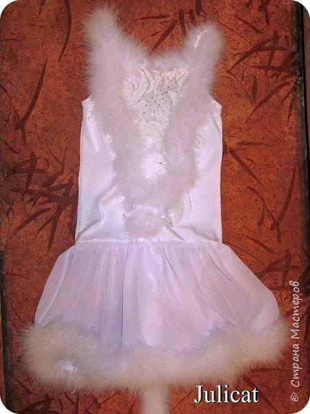 Приветствую Вас, уважаемые гости моего блога!  Сегодня покажу мою зимнюю работу - костюм Кошечки для Катюши на новогодний праздник в детской спортшколе, где Катя занимается спортивной аэробикой.  Катюше дали роль кошечки. Я очень обрадовалась, т.к. у меня уже были наметки на этот костюм - 9 лет назад шила костюм белой кошечки своей старшей дочке Юле - остались детали).   фото 14