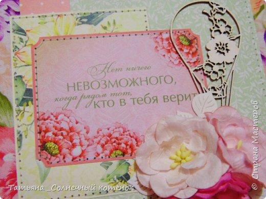 """Текстильный фотоальбом """"Весенний"""" фото 10"""