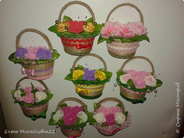 Продолжение темы 8Марта... еще немного корзинок с цветами... уж очень они понравились женщинам!!! фото 1