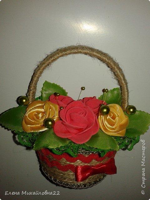 Продолжение темы 8Марта... еще немного корзинок с цветами... уж очень они понравились женщинам!!! фото 2