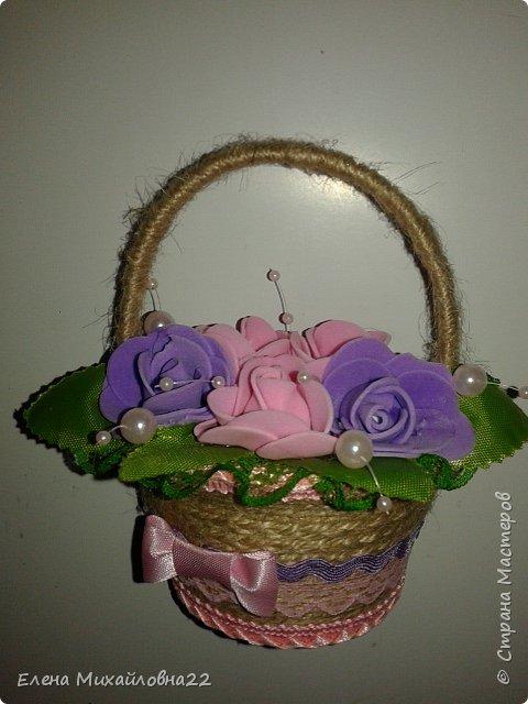 Продолжение темы 8Марта... еще немного корзинок с цветами... уж очень они понравились женщинам!!! фото 4