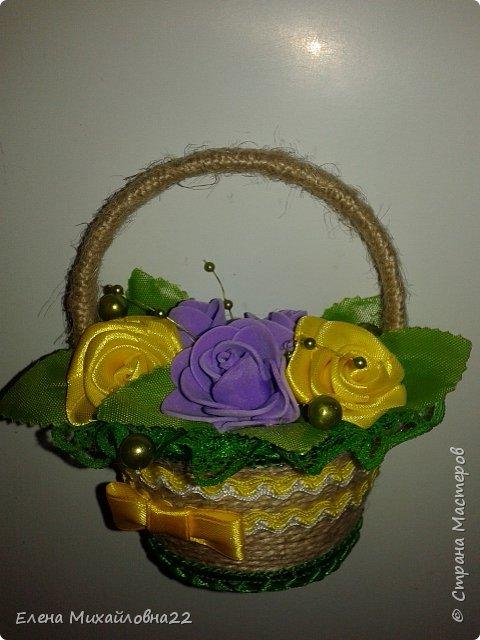 Продолжение темы 8Марта... еще немного корзинок с цветами... уж очень они понравились женщинам!!! фото 5