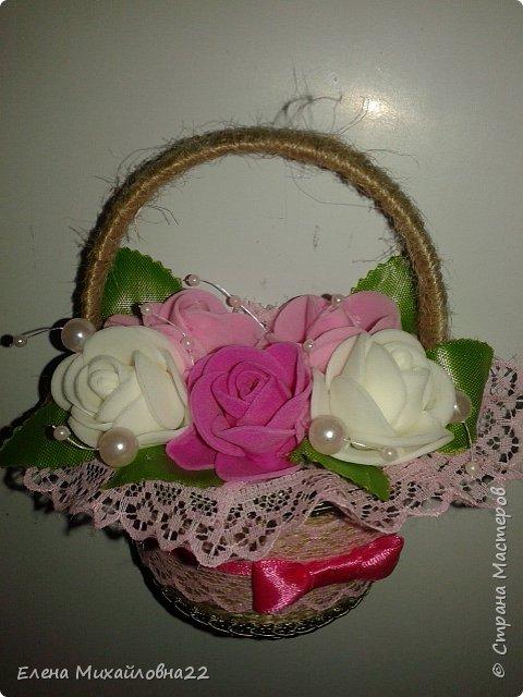 Продолжение темы 8Марта... еще немного корзинок с цветами... уж очень они понравились женщинам!!! фото 6