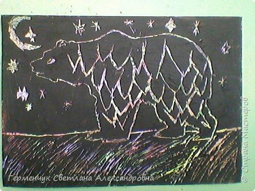 """НА уроке ИЗО  ребята  4""""В"""" класса работали   над изображением  """"Этих забавных  животных """"  в  технике  граттаж. Царапки   получились восхитительные !!! .Ребята! ВЫ - МОЛОДЦЫ!!! фото 6"""