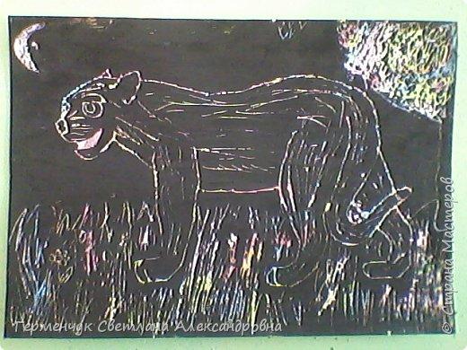 """НА уроке ИЗО  ребята  4""""В"""" класса работали   над изображением  """"Этих забавных  животных """"  в  технике  граттаж. Царапки   получились восхитительные !!! .Ребята! ВЫ - МОЛОДЦЫ!!! фото 9"""