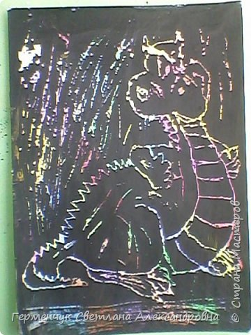 """НА уроке ИЗО  ребята  4""""В"""" класса работали   над изображением  """"Этих забавных  животных """"  в  технике  граттаж. Царапки   получились восхитительные !!! .Ребята! ВЫ - МОЛОДЦЫ!!! фото 16"""