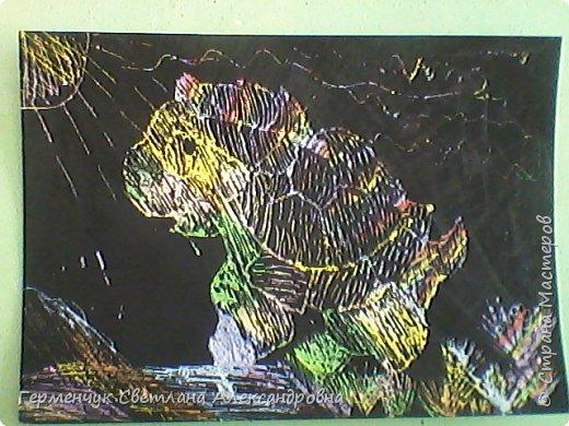 """НА уроке ИЗО  ребята  4""""В"""" класса работали   над изображением  """"Этих забавных  животных """"  в  технике  граттаж. Царапки   получились восхитительные !!! .Ребята! ВЫ - МОЛОДЦЫ!!! фото 17"""