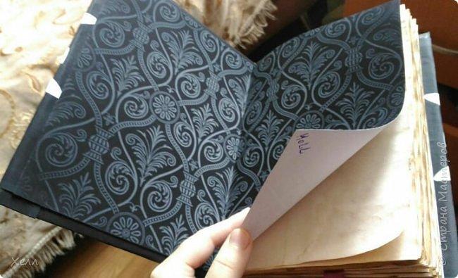 В подарок другу был сделан такой вот блокнотик.  Формат - А5,  на 50 листов, все листы старились вручную фото 1