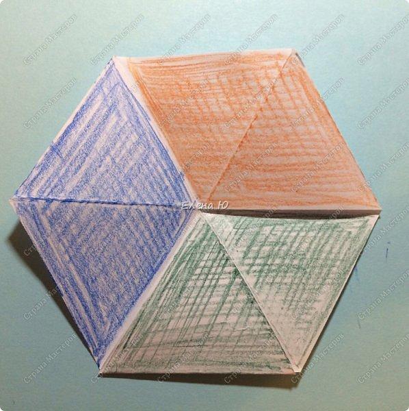 Предлагаю сделать забавную и совсем несложную  безделушку (головоломку)  - флексагон. Флексагоны — плоские модели из полосок бумаги, способные складываться и сгибаться определённым образом.  фото 18