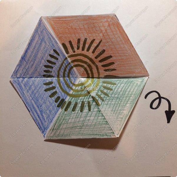 Предлагаю сделать забавную и совсем несложную  безделушку (головоломку)  - флексагон. Флексагоны — плоские модели из полосок бумаги, способные складываться и сгибаться определённым образом.  фото 19