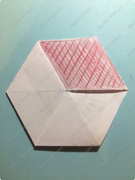 Предлагаю сделать забавную и совсем несложную  безделушку (головоломку)  - флексагон. Флексагоны — плоские модели из полосок бумаги, способные складываться и сгибаться определённым образом.  фото 20