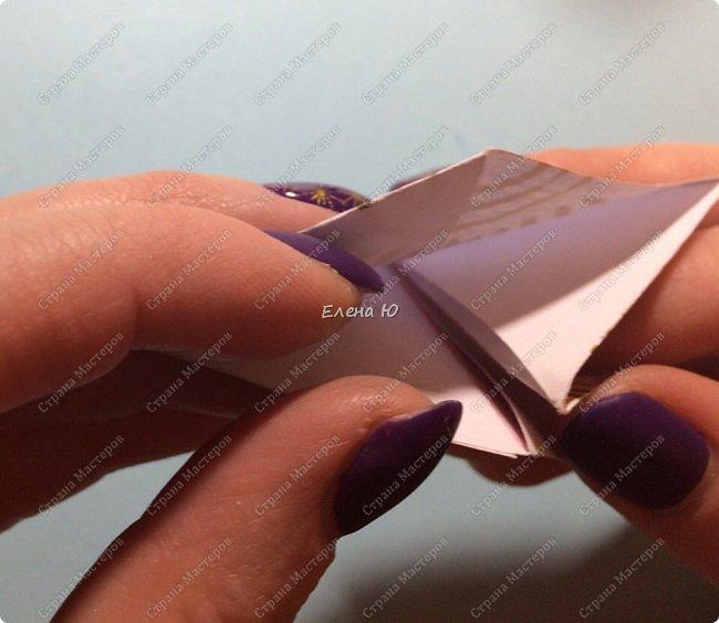 Предлагаю сделать забавную и совсем несложную  безделушку (головоломку)  - флексагон. Флексагоны — плоские модели из полосок бумаги, способные складываться и сгибаться определённым образом.  фото 23