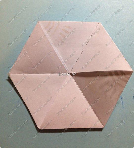 Предлагаю сделать забавную и совсем несложную  безделушку (головоломку)  - флексагон. Флексагоны — плоские модели из полосок бумаги, способные складываться и сгибаться определённым образом.  фото 25
