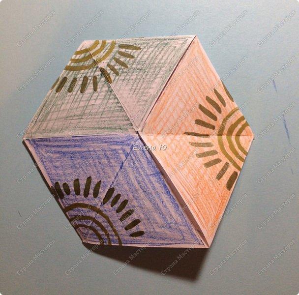 Предлагаю сделать забавную и совсем несложную  безделушку (головоломку)  - флексагон. Флексагоны — плоские модели из полосок бумаги, способные складываться и сгибаться определённым образом.  фото 28
