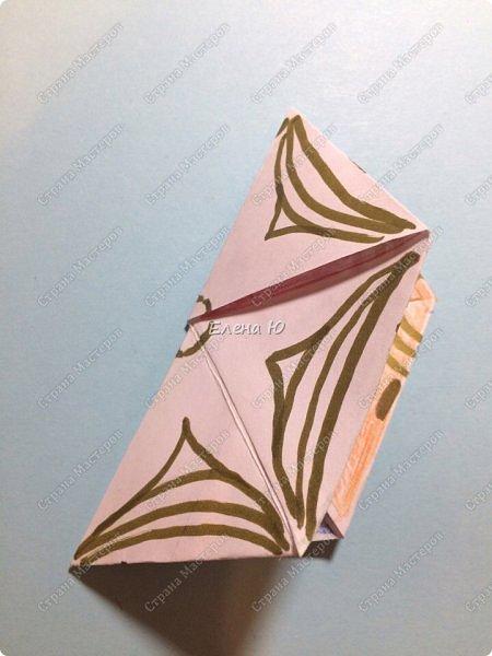 Предлагаю сделать забавную и совсем несложную  безделушку (головоломку)  - флексагон. Флексагоны — плоские модели из полосок бумаги, способные складываться и сгибаться определённым образом.  фото 29