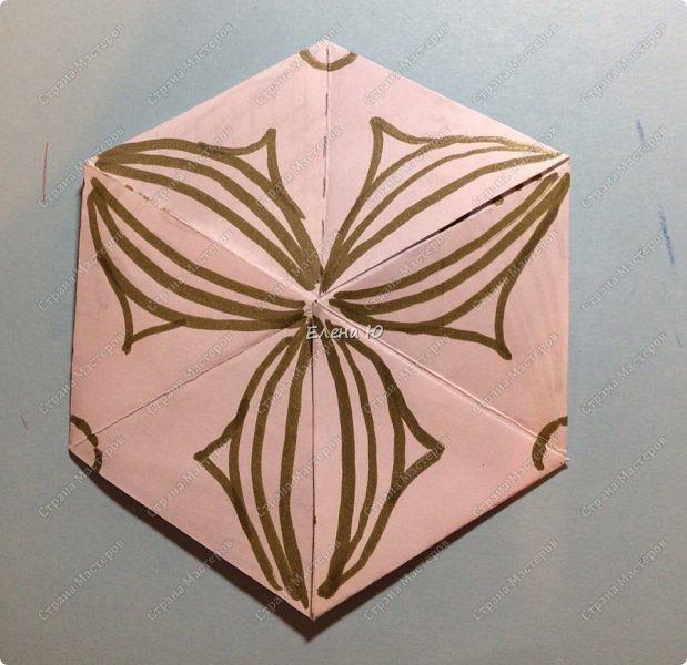 Предлагаю сделать забавную и совсем несложную  безделушку (головоломку)  - флексагон. Флексагоны — плоские модели из полосок бумаги, способные складываться и сгибаться определённым образом.  фото 34