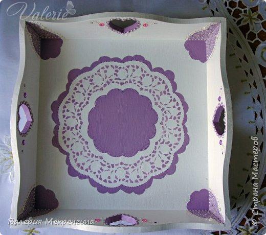 Кухонный комплект в фиолетово-лиловых оттенках фото 5