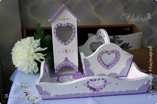 Кухонный комплект в фиолетово-лиловых оттенках фото 1