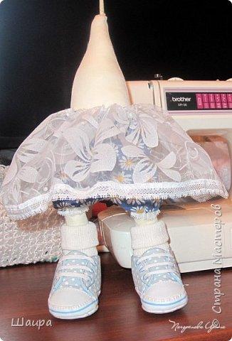 Интерьерная кукла. Рост 50 см. Голова - капрон, тело, руки, ноги - ткань. Волосы, ресницы покупные. Ножки и тело на каркасе. фото 8